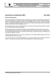 Geschichte und Staatslehre BM 1 SLP 2005