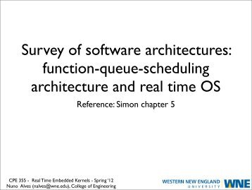 Survey of software architectures: function-queue ... - Nuno Alves