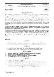 Berufsmatura Englisch Englisch BM 1 SLP 2011 Richtziele