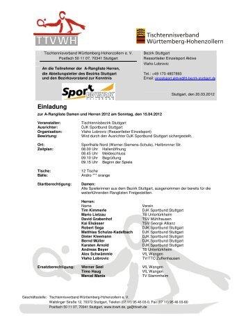 Einladung - TTVWH Bezirk Stuttgart