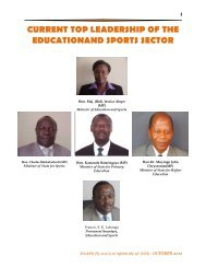 Part I - Ministry Of Education and Sports