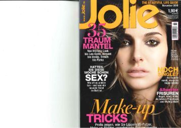 Artikel&Gewinnspiel Jolie November 2010 - Imperialart