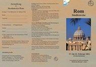 Rom Flyer.indd - Evangelische Erwachsenenbildung Hochrhein ...