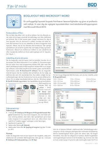 Boglayout med Microsoft WORD.indd - BoD