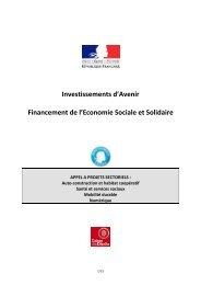 Appel à projets sectoriels ESS PIA - Chambre régionale de l ...