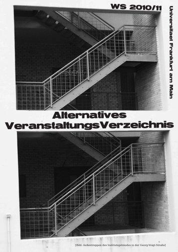 AlternativesVeranstaltungsVerzeichnis WS 10/11 - Fachschaft 04