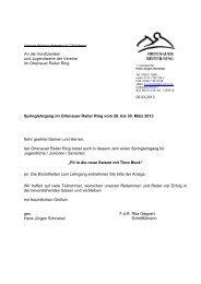 Springlehrgang im Ortenauer Reiter Ring vom 28. bis 30. März 2013 ...