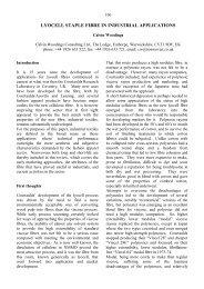 LYOCELL STAPLE FIBRE IN INDUSTRIAL APPLICATIONS - Lenzing