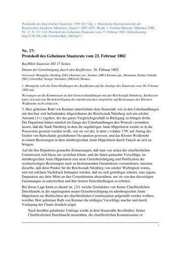PDF-Datei - Protokolle des Bayerischen Staatsrats