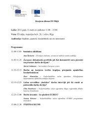 Pasākuma programma - Jaunatnes starptautisko programmu aģentūra