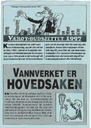 Vedlegg til Værøyposten januar 1997