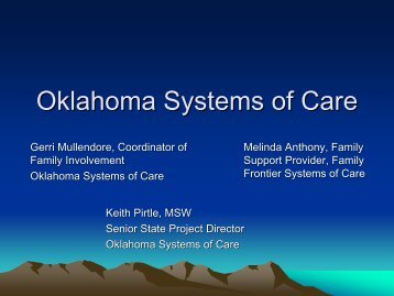 Oklahoma Systems of Care - Oklahoma Autism Network