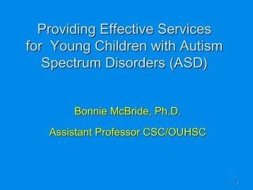 McBride Powerpoint - Oklahoma Autism Network