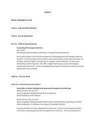 AGENDA FRIDAY, NOVEMBER 19, 2010 7:00 am - 5:30 pm Exhibit ...