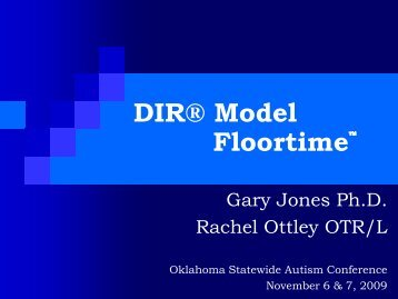 Jones/Ottley Powerpoint - Oklahoma Autism Network