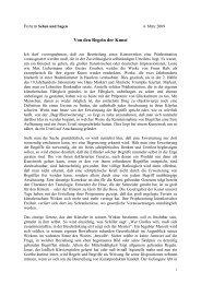 Von den Regeln der Kunst - Hansjörg Wagner