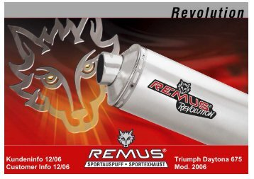 "The New Sport exhaust ""REMUS REVOLUTION"" - Motorsports ..."