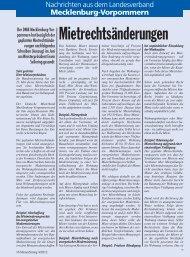 Mecklenburg-Vorpommern - Deutscher Mieterbund