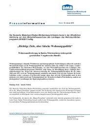 Richtige Ziele, aber falsche Wohnungspolitik - Deutscher Mieterbund