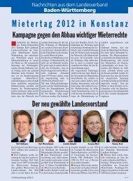 Baden-Württemberg - Deutscher Mieterbund