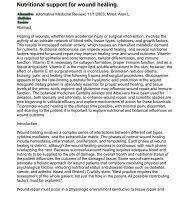 Nutritional support for wound healing. Alternative ... - Desert Harvest