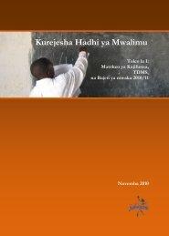 Kurejesha Hadhi ya Mwalimu I.pdf - HakiElimu