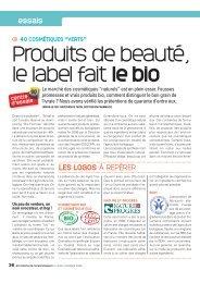 432 • Cosmetiques bio - 60 Millions de Consommateurs