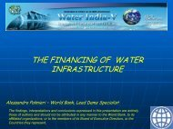 THE FINANCING OF WATER INFRASTRUCTURE - KW Conferences