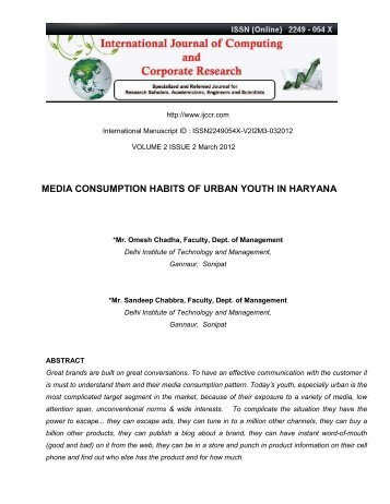 media habits of rural youth Habits of secondary school  the idea was primarily education and access to rural population  maintained its dominant position in today's youth leisure time.