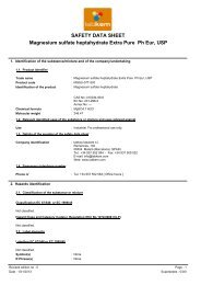 SAFETY DATA SHEET Magnesium sulfate heptahydrate ... - Labbox