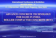 advance concrete technology for dams in india ... - KW Conferences