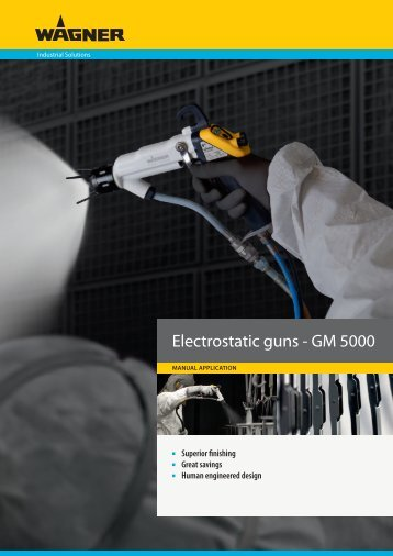 Electrostatic guns - GM 5000 - Wagner