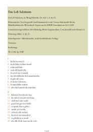 Das Lob Salomons, in - Mittelhochdeutsches Wörterbuch