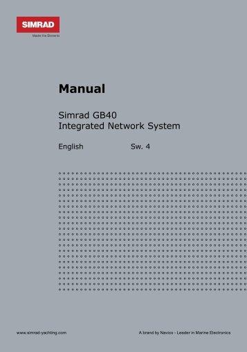 GB40 Operation Manual - Simrad