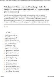 Willehalm von Orlens ; aus dem Wasserburger Codex der fürstlich ...