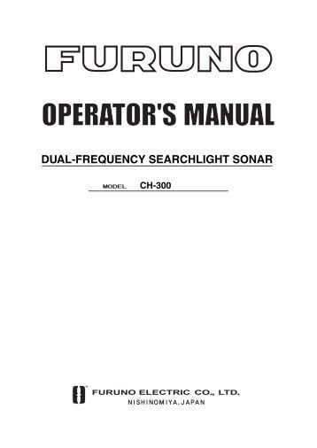 DUAL-FREQUENCY SEARCHLIGHT SONAR - Furuno