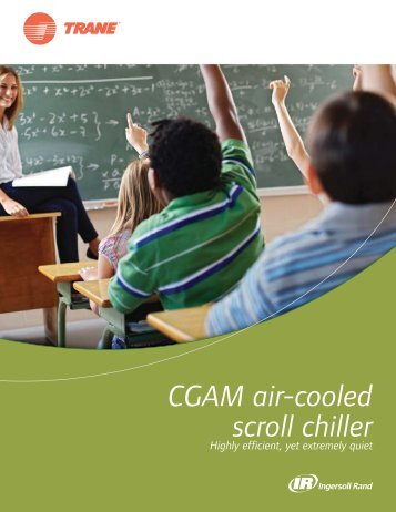 CGAM air-cooled scroll chiller - Highly efficient, yet extremely quiet