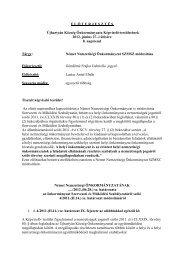 8.)Német Nemzetiségi Önkormányzat SZMSZ módosítása - Újhartyán