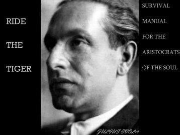 Julius Evola • Ride the Tiger - Cakravartin.com