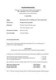 Beszámoló a 2013 évi Költségvetés I félévi teljesítéséről - Újhartyán