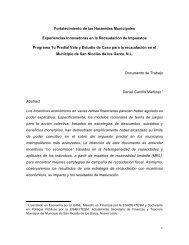Fortalecimiento de las Haciendas Municipales Experiencias ... - Cefim