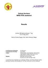 Oxford FITA 2012: Results - Archery GB