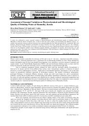 Assessment of Seasonal Variation on Physicochemical and ...