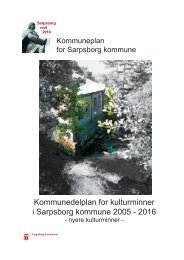 Kommunedelplan for kulturminner i Sarpsborg kommune 2005 - 2016