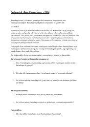 Pedagogisk tilsyn i barnehager - 2013 - Sarpsborg kommune