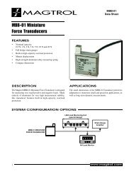 Miniature Force Transducers - Model MBB-01 - Magtrol