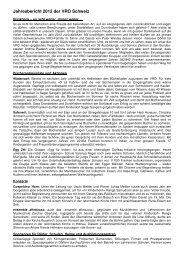 Jahresbericht 2012 der VRO Schweiz