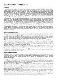 Jahresbericht 2010 der VRO Schweiz