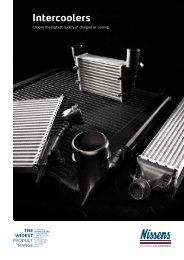 Why opt for Nissens' intercoolers?
