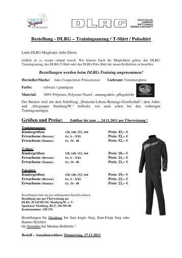 DLRG – Trainingsanzug / T-Shirt / Poloshirt  - DLRG Ortsgruppe ...